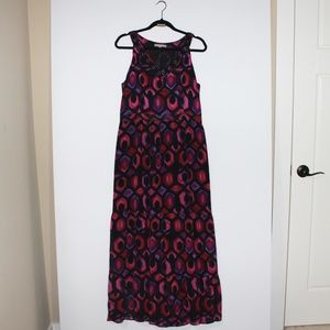 NY Collection Purple Sleeveless Long Dress Xlarge